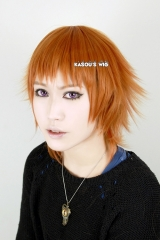 Black Butler / Kuroshitsuji Drocell Caines short layers copper orange cosplay wig with short bangs