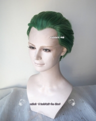 Lace Front>> Batman Joker all back short Green cosplay wig