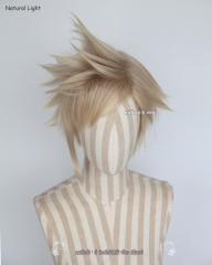 Final Fantasy XV . FF XV Versus Prompto Argentum dark rooted ash blonde spike cosplay wig pokémon go team leader Spark cosplay wig