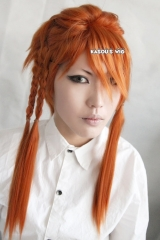 Black Butler / Kuroshitsuji Joker Beast pre styled Orange Cosplay wig with 4 braids