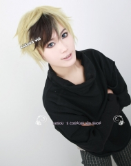 Black Butler / Kuroshitsuji Dagger short layered blonde brown cosplay wig / Multi color wig