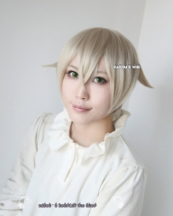 Touken Ranbu Hotarumaru 刀剣乱舞 蛍丸 pale ash blonde short cosplay wig