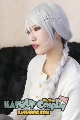 Howls Moving Castle Sophie Hatter white 72cm long braid cosplay wig