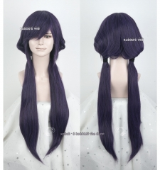 Love Live! School Idol project Toujou Nozomi 85cm long deep purple pre-styled pigtails cosplay wig