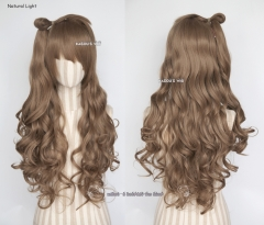 Love Live ! Kotori Minami White Day light brown wave cosplay wig / 85cm long cute wig