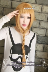 Soul Eater Medusa dark ash blonde pre- styled layers cosplay wig with braid / 70cm