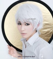Jack Frost Rise of the Guardians Kaneki Ken Tokyo Ghoul short layered pure white cosplay wig . KA001