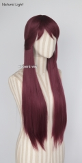"100cm / 39.5"" Love Live Sunshine . Aqours Sakurauchi Riko wine red long wig"