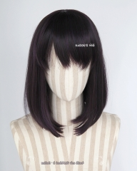 Sailor Moon Sailor Saturn . Tomoe Hotaru purplish black shoulder length bob cosplay wig