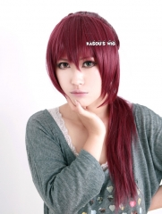 Free! Iwatobi Swim Club Gou Matsuoka wine red ponytail cosplay wig