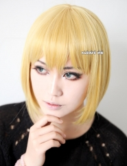 Hunter x Hunter Kurapika / Attack on Titan Shingeki No Kyojin Armin Arlert bright blonde short bob cosplay wig . lolita