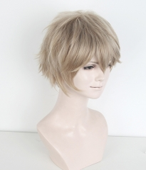 "S-1 / KA015 >>31cm / 12.2"" short ash blonde layered wig, easy to style,Hiperlon fiber"