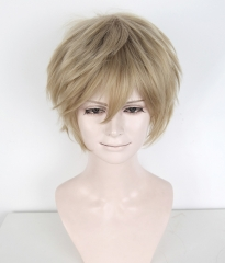 "S-1 / KA016 >>31cm / 12.2"" short tanned blonde layered wig, easy to style,Hiperlon fiber"