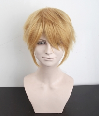 "S-1 / KA012 >>31cm / 12.2"" short golden blonde layered wig, easy to style,Hiperlon fiber"