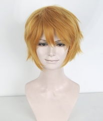 "S-1 / KA014 >>31cm / 12.2"" short golden layered wig, easy to style,Hiperlon fiber"