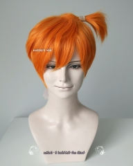 SALE! Pokemon Misty short orange wig with pre-styled ponytail.