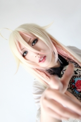 Vocaloid IA 150cm long pre styled yellow + pink multi color ombre stright cosplay wig. lolita wig