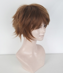 "Yuri !!! on Ice Ji Guang Hong   S-1 / KA024 >>31cm / 12.2"" short light brown layered wig, easy to style,Hiperlon fiber"