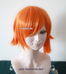 One Piece Nami short smooth orange cosplay wig