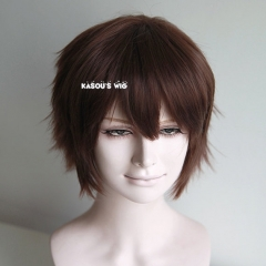 "S-1 / KA030>>31cm / 12.2"" How to train your dragon Hiccup deep brown short layered easy to style, Hiperlon fiber"