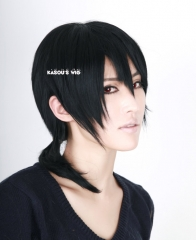 Kagerou Project . Mekaku City Actors Konoha Kuroha black medium layers ponytail cosplay wig