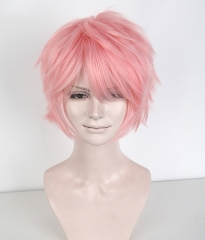 "S-1 / KA033 >>31cm / 12.2"" short light pink layered wig, easy to style,Hiperlon fiber"