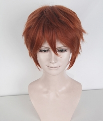 "Given Mafuyu Sato S-1 / KA022 >>31cm / 12.2"" short Copper Penny layered wig, easy to style,Hiperlon fiber"