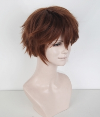"S-1 / KA026>>31cm / 12.2"" short Walnut Brown layered wig, easy to style,Hiperlon fiber"
