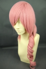Final Fantasy XIII / FF13 Serah Farron Milkshake long curly ponytail pink  cosplay Wig