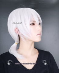 Kagerou Project . Mekaku City Actors Konoha Kuroha white medium layers ponytail cosplay wig