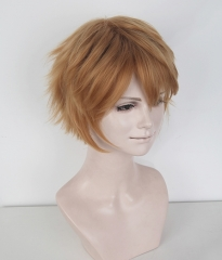 "S-1 / KA018 >>31cm / 12.2"" short ginger orange layered wig, easy to style,Hiperlon fiber"