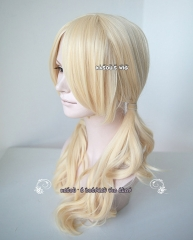 Sucker Punch Babydoll curly twin tails cream blonde cosplay wig with long bangs . Lolita hair sp08