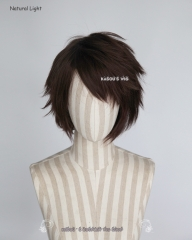 "Pokémon GO team leader Candela short layers chocolate brown wig /  S-1 >>31cm / 12.2"" short layered wig, easy to style . SP07"