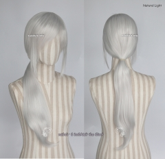 Chainsaw Man Quanxi/ Pokémon GO team leader Blanche light silver ponytail wig . KA002
