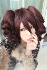 Persona 4 Rise Kujikawa milk chocolate brown cosplay wig with cute pigtails . lolita wig. KA029