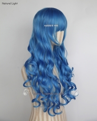 Fairy Tail Juvia Lockser L-1 / KA048 dodger blue 75cm long curly wig . Hiperlon fiber