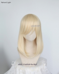 M-1/ SP08 Creamy Blonde long bob cosplay wig. shouder length lolita wig suitable for daily use