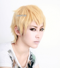 DMMD / Dramatical Murder Noiz short light peach layers cosplay wig. SP23