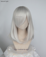 M-1/ KA002 silver white long bob cosplay wig. shouder length lolita wig suitable for daily use