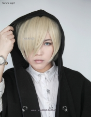Yuri !!! on Ice  Yuri Plisetsky short smooth wig with long bangs. s-2 / KA006