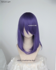 Fate stay night Sakura Matou M-1 /  KA057 cool purple long bob cosplay wig. shouder length lolita wig suitable for daily use .