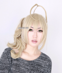 ZONE 00 Benio pre-tied light sand blonde cosplay wig with curly ponytail