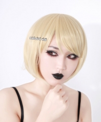 Homestuck Rose Lalonde pale blonde short bob cosplay wig with bangs