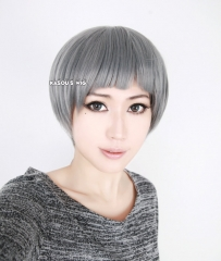 Free! Iwatobi Swim Club Aiichirou Nitori dark gray short thick bob cosplay wig
