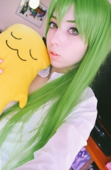 L-4 Fate GO Enkidu / Code Geass CC long straight grass green cosplay wig 100cm / 39.5""