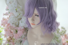 S-4 / SP33 grayish purple loose beach waves lolita . harajuku wig with bangs .35cm