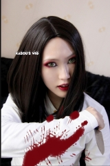 Alice: Madness Returns Alice central parted shoulder- length / 40 cm long black  cosplay wig