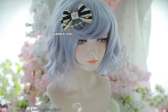 S-4 / SP26 silver lavender loose loose beach waves lolita . harajuku wig with bangs .35cm