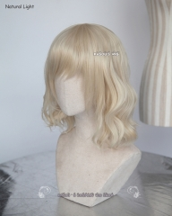 S-4 / KA006 light blonde loose beach waves lolita . harajuku wig with bangs .35cm .