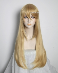 L-2 / KA011 Honey Butter 75cm long straight wig . Hiperlon fiber